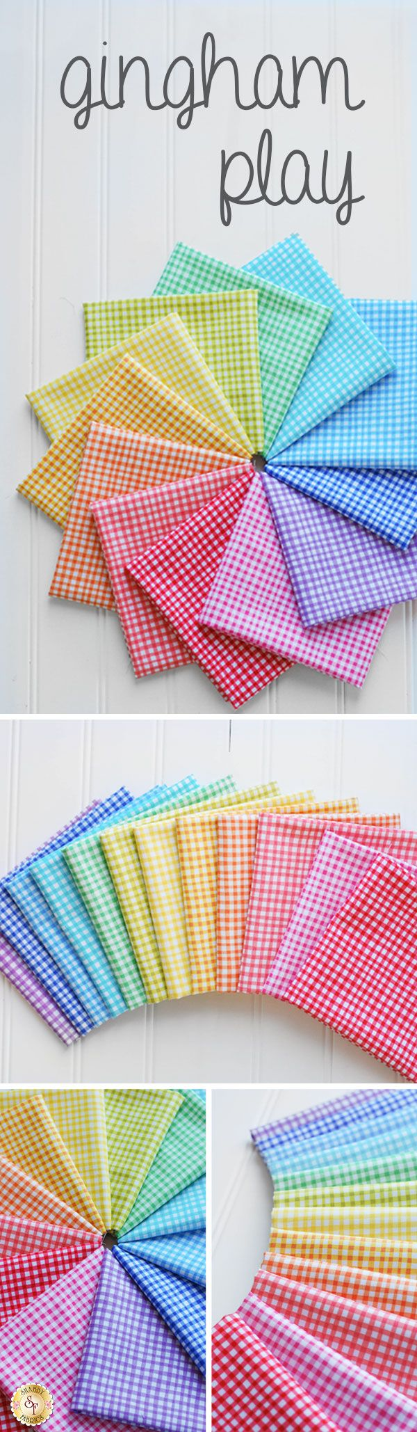 Gingham Play by Michael Miller Fabrics is a beautiful basics fabric collection available at Shabby Fabrics!