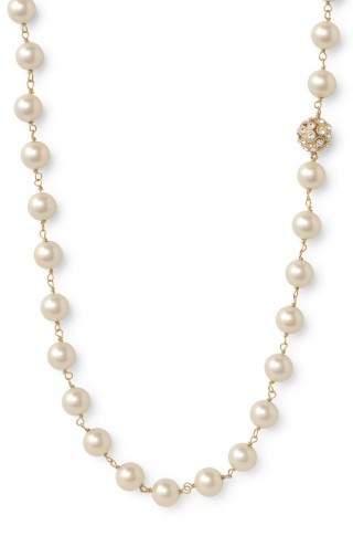 coco gold pearl strand necklace from stella  dot...a staple in my everyday