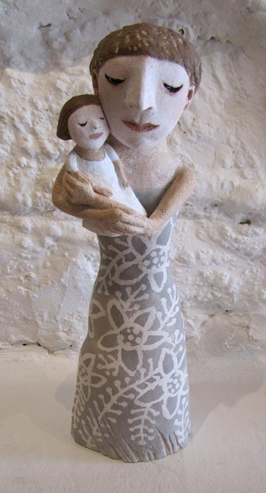 Mother and Child by Sally Curry - sculptor - Tasmanian artist