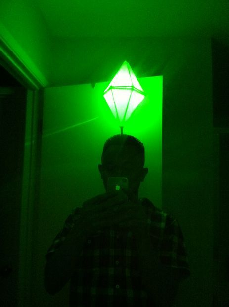 Picture of LED Light Up Sims PlumbBob Costume (That green pylon above their head)