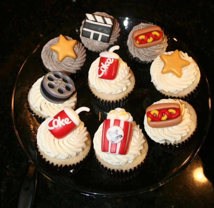 movie themed cupcake toppers via etsy birthday party