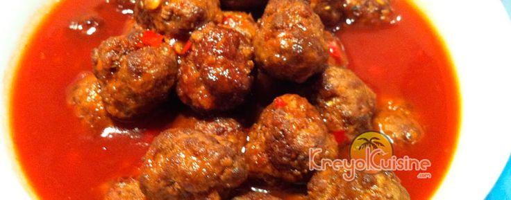 Boulettes créoles: La meilleure recette de boulettes de viande hachée à faire et à déguster. Accompagne très bien le riz blanc et le sos pwa.