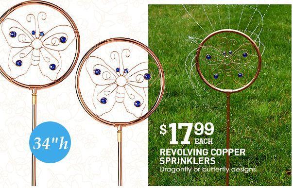 Revolving copper sprinkler $17.99 from Christmastreeshop ...