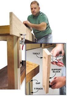 Rock-Solid Bench Support - Popular Woodworking Magazine #woodworkingbench