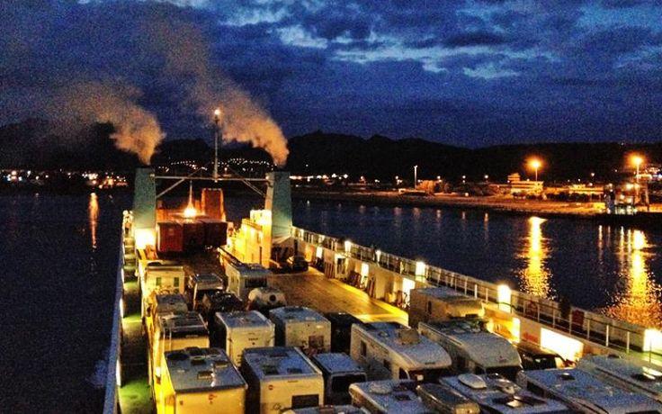Mit der Cargo Fähre unterwegs von Olbia nach Pimbino