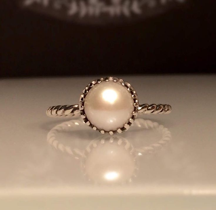A personal favorite from my Etsy shop https://www.etsy.com/listing/509913144/pearl-ringstacker-ringsterling-silver