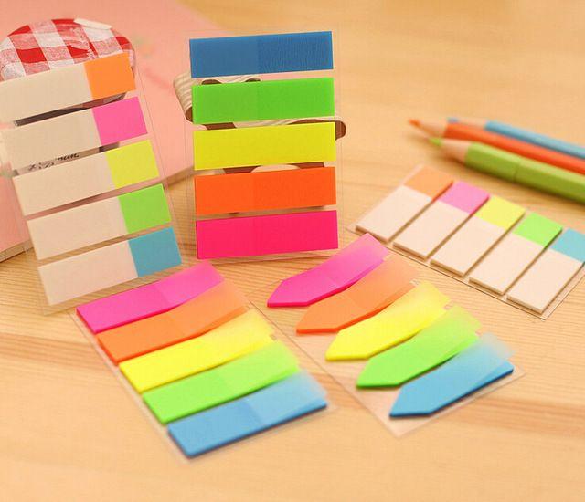 Свежие Цвета Радуги Memo Pad Sticky Notes Памятка Ноутбук Канцелярские Papelaria Эсколар Школьные Принадлежности