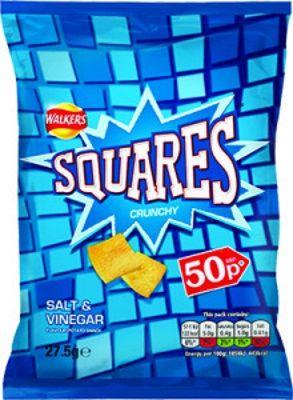 Crisps [Chips], Nuts & Snacks - Walkers - Squares Salt & Vinegar - UK
