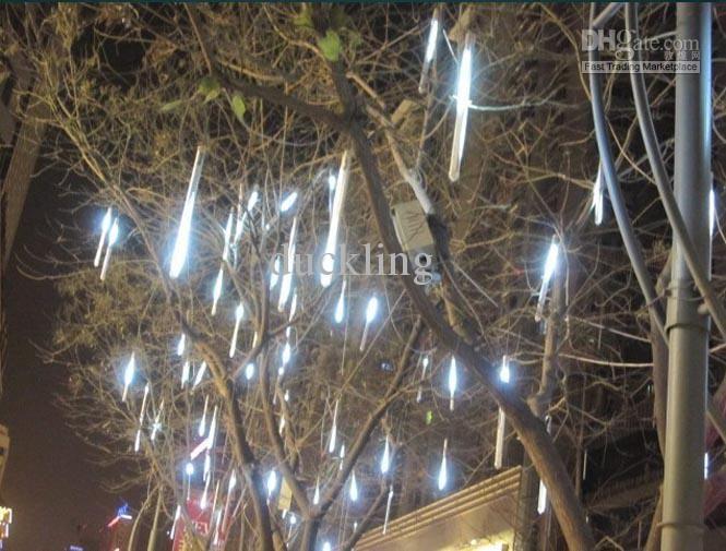 Wholesale Length 20cm 12LED8PCS white color LED meteror shower rain Tube lights outdoor tree decoration, Free shipping, $19.42-24.74/Piece | DHgate