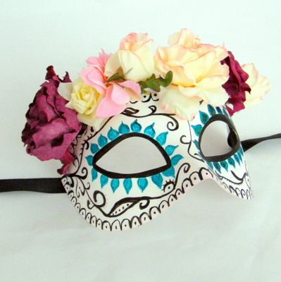 Day of the Dead masquerade mask!...Would love this as a prop for a photo booth
