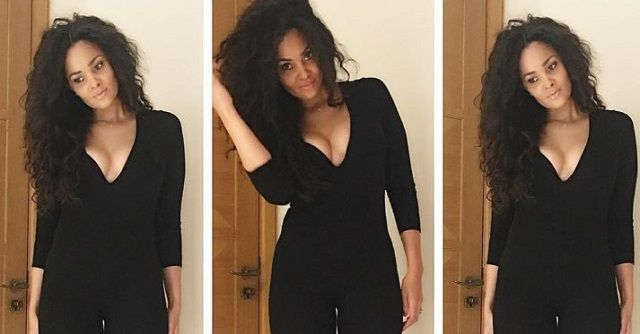 The wife of Ghanaian footballer Sulley Muntari, Menaye Donkor looks beautiful in all black dress as he shares another photo of her to get the intention of media.