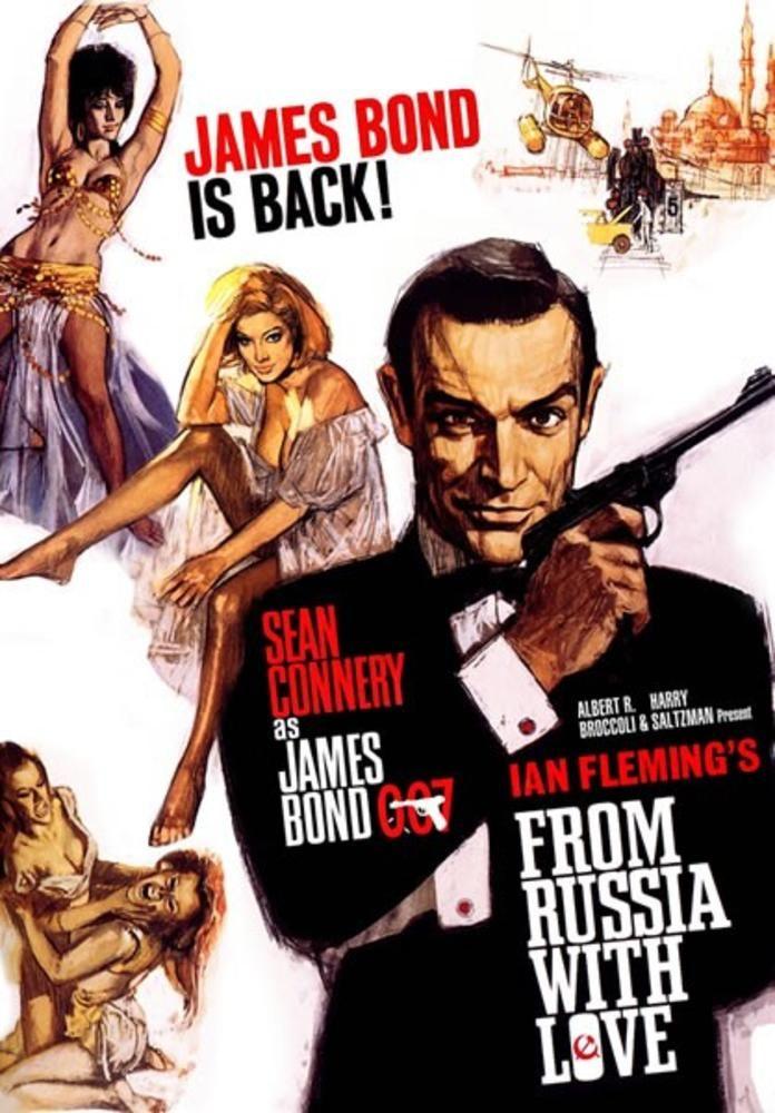 James Bond Bons Baisers De Russie 1964 James Bond Movies All James Bond Movies James Bond Movie Posters