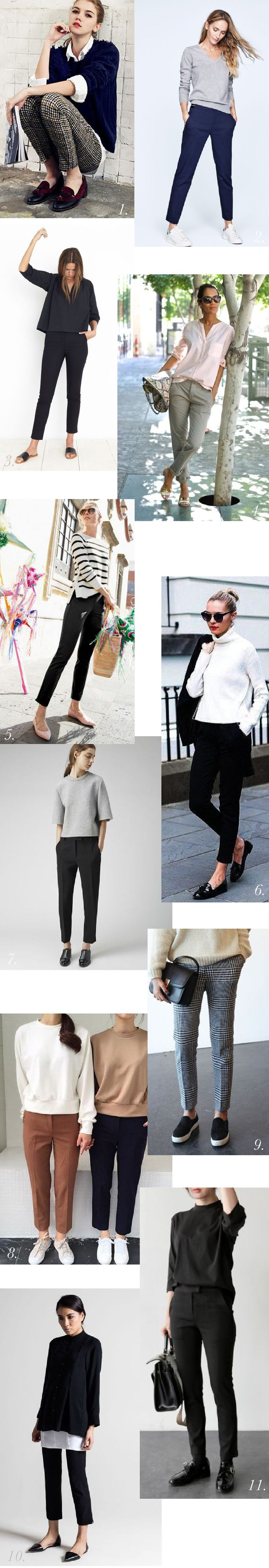 Sasha Trousers Pattern // Styling Inspiration // Outfits for pants or trousers // Work outfits, office outfits