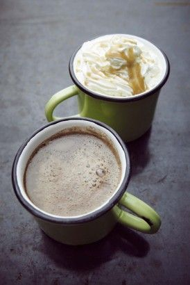SALTED CARAMEL HOT CHOCOLATE To make this hot chocolate you will need to have prepared my Salted Caramel Sauce http://www.nigella.com/recipes/view/salted-caramel-sauce