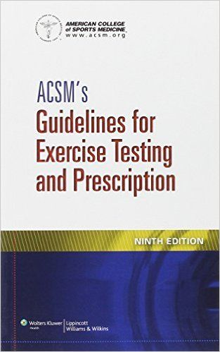 ACSM's Guidelines for Exercise Testing and Prescription 9th Edition PDF