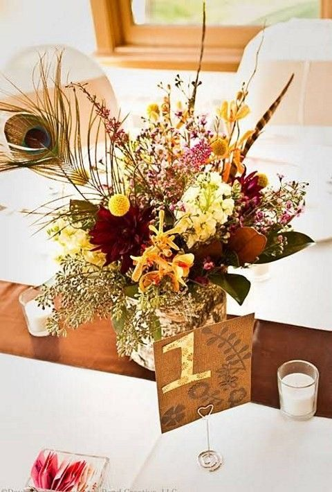I'm a sucker for adorable and bold fall colors, that's why I love fall weddings so much! Fall décor is so cozy and inviting – orange, burgundy, chocolate and yellow. Wedding centerpiece is one of the most important parts...