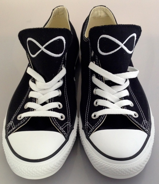 Personalized Infinity Sign Converse.: Shoes, Infinity Signs, Personalized Infinity, Sign Converse, Custom Personalized