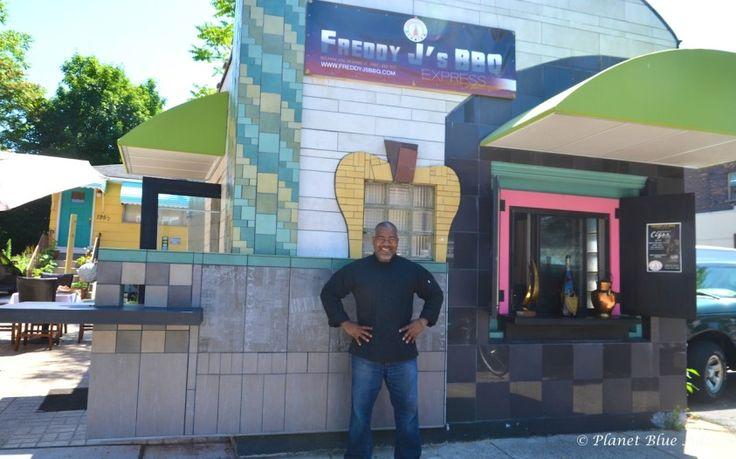 Freddie Daniel outside his BBQ Place