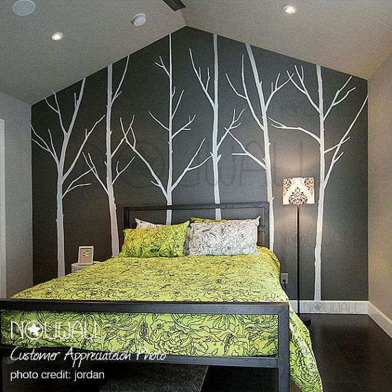 Tree  Wall Decals Wall Stickers Winter Trees  036 by NouWall, $85.00