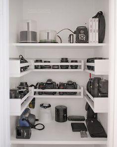 Fresh Camera Gear Storage Cabinet