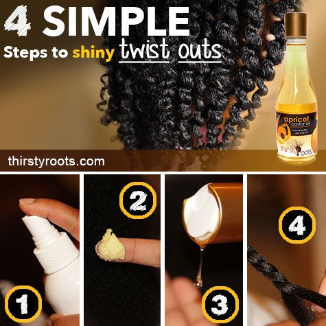 4 Simple Steps To Shiny Twist Outs - If you have been struggling to get the perfect shiny twist outs with defined crimps and curls, then follow these simple steps and you will achieve that look you desire.