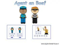 Digibordles Agent en Boef rekenen
