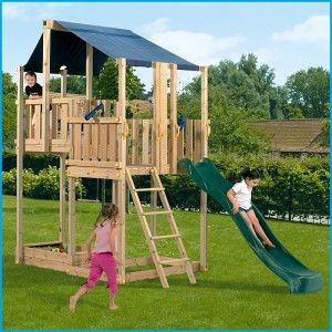 Blue-Rabbit-duplex play centre - great quality wooden climbing frames from Blue Rabbit