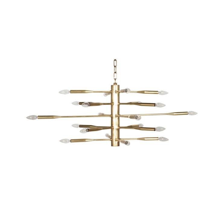 Antique Brass Chandelier - Lighting - Worlds Away   The Design Network