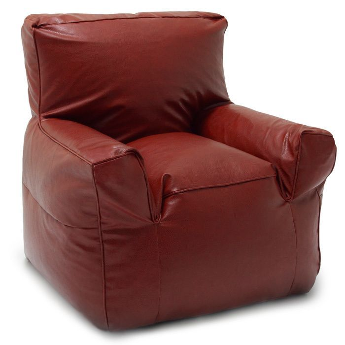 Comfort Research BeanSack Big Joe Suite Vegan Leather Bean Bag Arm Chair