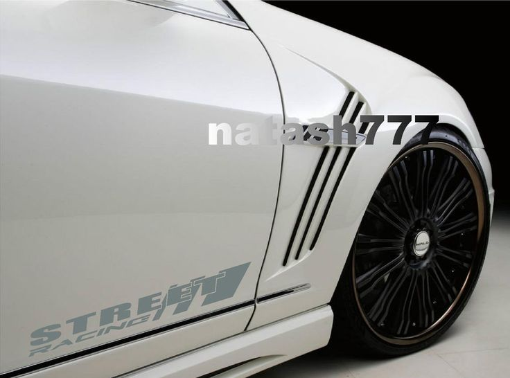 STREET RACING Sport Car Truck SUV Vinyl Decal sticker emblem logo SILVER #natash777