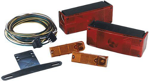 "Wesbar 007509 Low Profile Waterproof Trailer Light Kit, Over 80"" Wide Trailer"