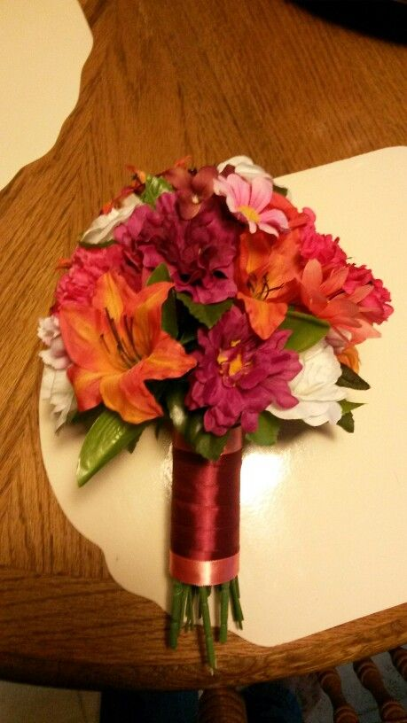Burgundy and coral bouquet my recreations things i ve