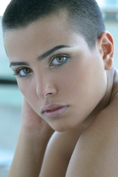 Ladies Ultra Short Haircuts -- i love feeling another chick's hair when she's got the peach fuzz!!!