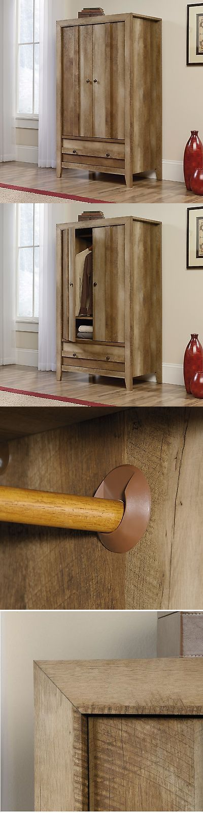 Armoires and Wardrobes 103430: Armoire Craftsman Oak Finish Wardrobe Closet Storage Adjustable Shelf Drawer -> BUY IT NOW ONLY: $299.99 on eBay!