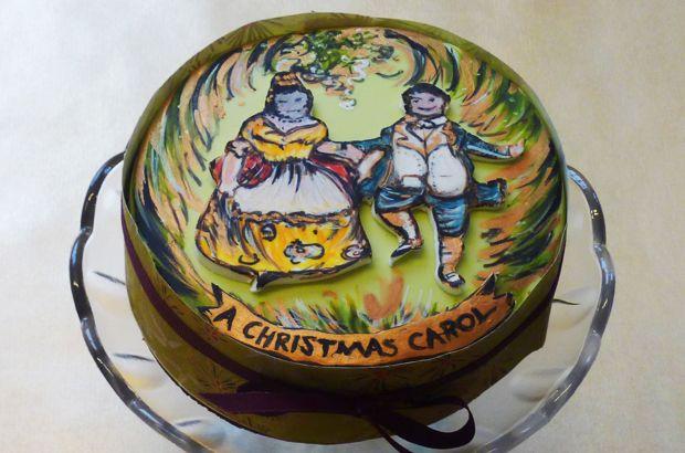 William Morris themed Christmas cake.