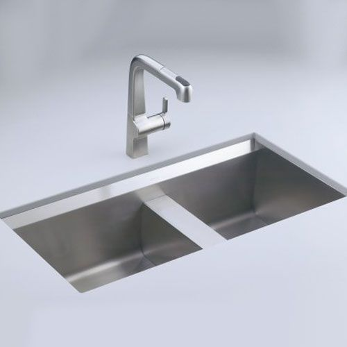 kohler double kitchen sink kohler k3672 na 8 degree stainless steel undermount 6682