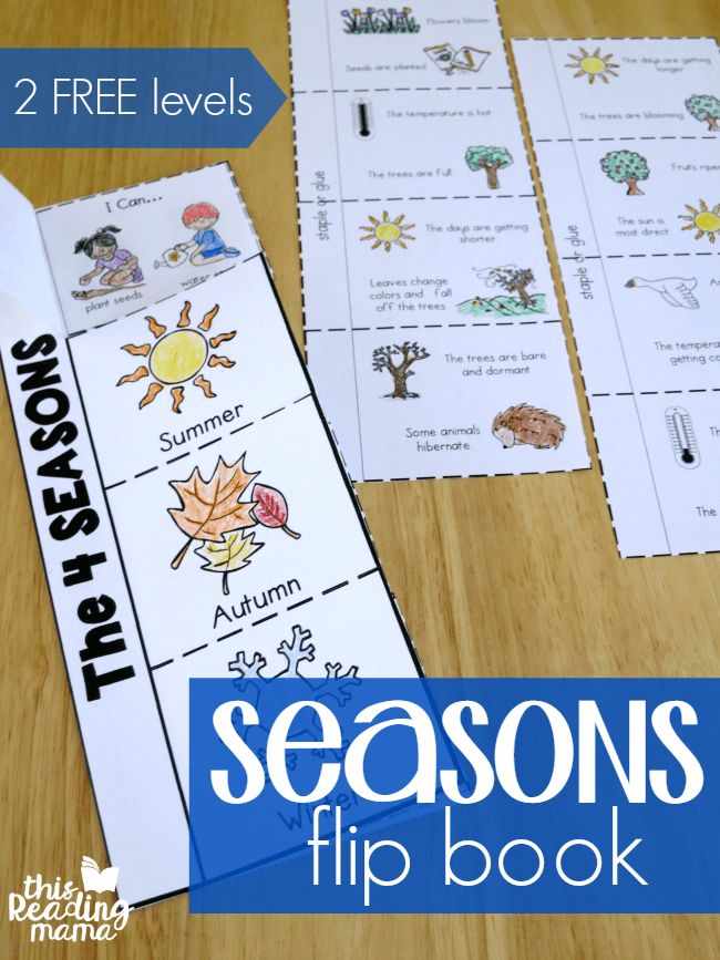 4 Seasons Flip Book- 2 FREE flip books from This Reading Mama