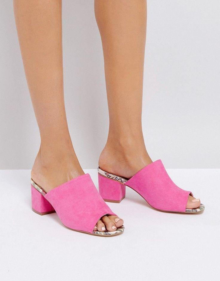 Oasis Heeled Mule - Pink