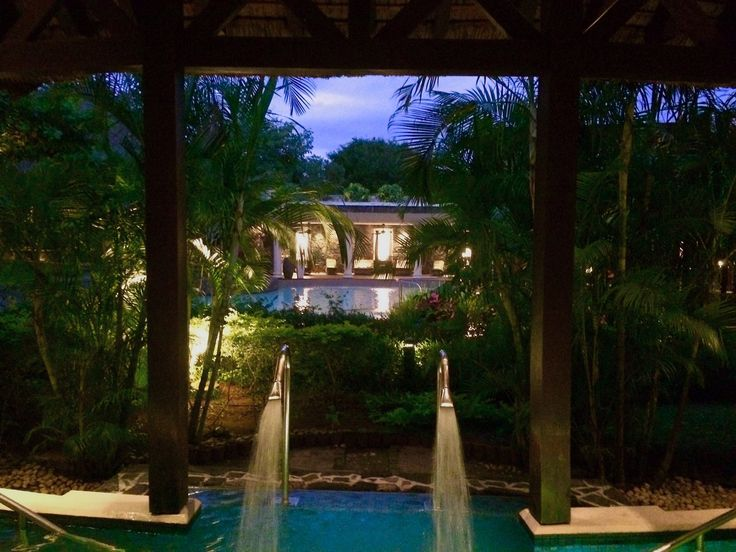 Spa evening tranquil Mauritius holiday beautiful