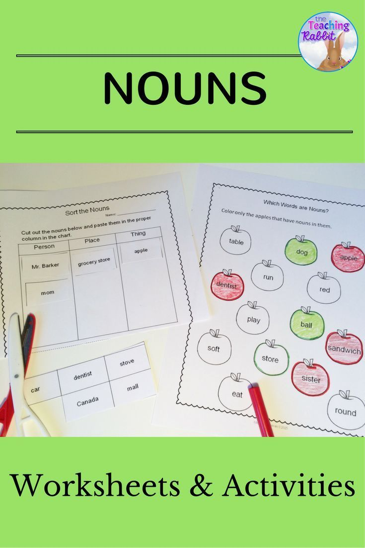Nouns worksheets and activities for primary students.  Covers plural and…