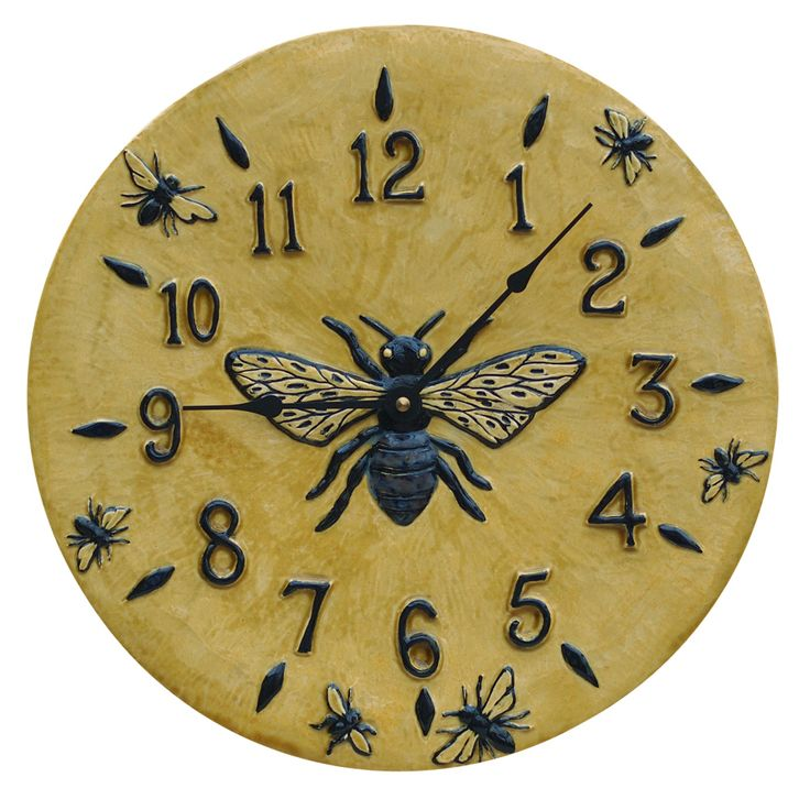 25 best Artist Made Ceramic Wall Clocks images by Honeybee Ceramics ...