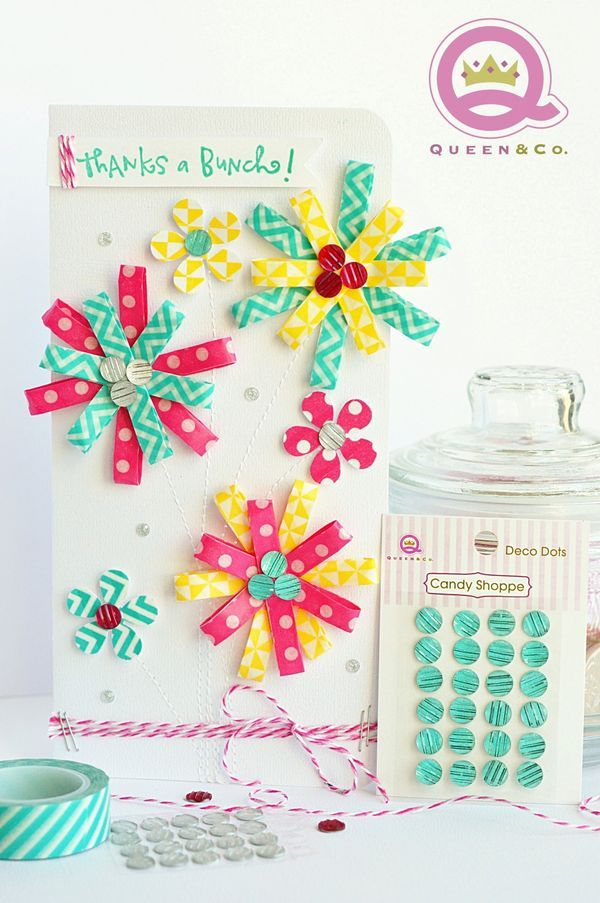 Washi Tape Flower Card
