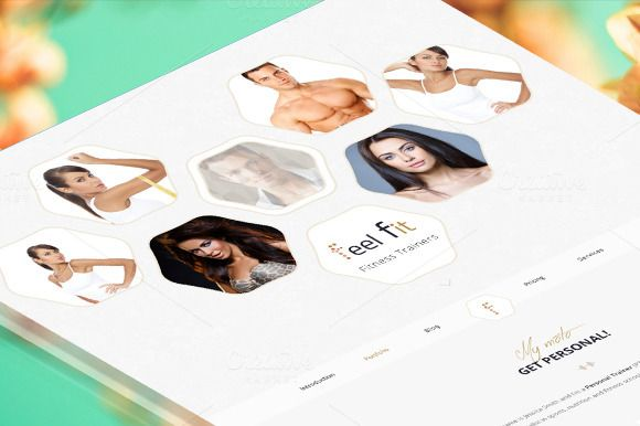Feel Fit - Fitness Trainers by AA-Team-Market on Creative Market
