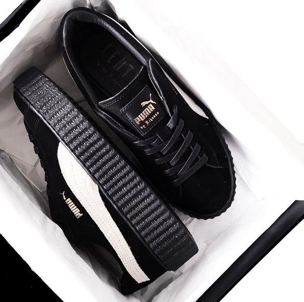 puma by rihanna creepers sneakers black