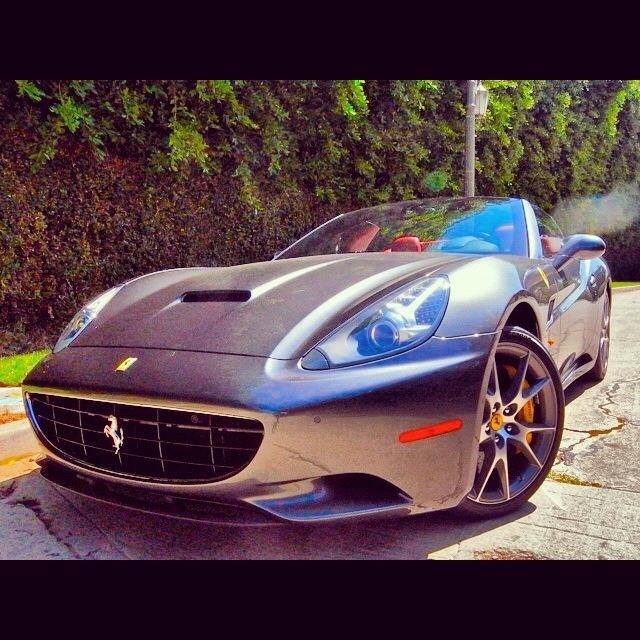 New To The True Exotic Car Rental Fleet Is A New  Ferrari California Dark Grey