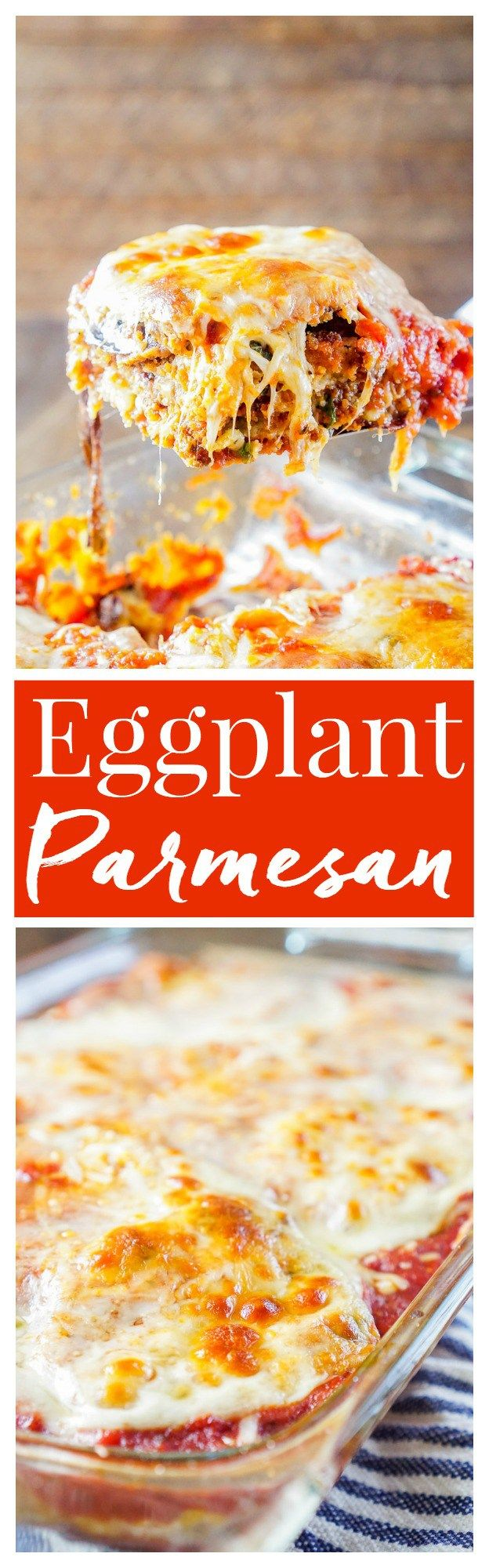 This Eggplant Parmesan is made with layers of eggplant, cheese, sauce, and memories. An easy and mouthwatering Italian classic you'll make again and again!