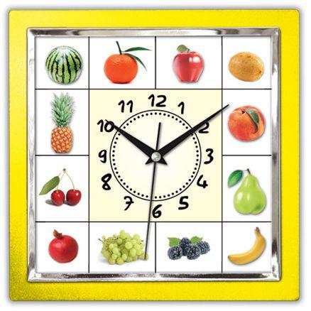 Kare Meyveli Sarı Renk Mutfak Duvar Saati  Ürün Bilgisi ;  Ürün maddesi : Plastik çerceve, Bombeli plastik cam Ebat : 27x 27 cm  Mekanizması (motoru) : Akar saniye, saat sessiz çalışır Kare Meyveli Sarı Renk Mutfak Duvar Saati Saat motoru 5 yıl garantilidir Yerli üretimdir Duvar Saati sağlam ve uzun ömürlüdür Kalem pil ile çalışmaktadır Gördüğünüz ürün orjinal paketinde gönderilmektedir. Sevdiklerinize hediye olarak gönderebilirsiniz