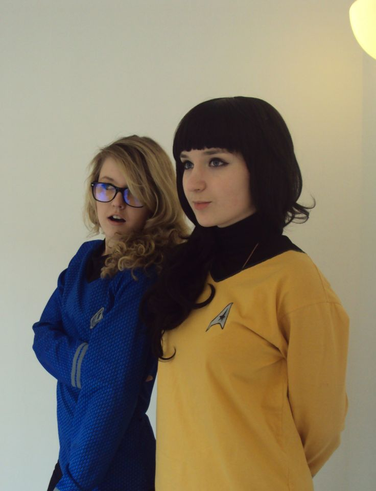 "star-trek-of-the-brain: "" A little piece of Star Trek AU cosplay. Captain!Spock - Mal First officer!Kirk - Kimmy (me) Inspired by usscamelot "" Um, this is amazing. Just saying."