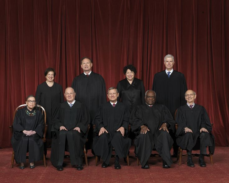 The United States Supreme Court    Seated left to right: Justice Clarence Thomas, Justice Antonin Scalia, Chief Justice John G. Roberts, Justice Anthony M. Kennedy, Justice Ruth Bader Ginsburg.  Standing left to right: Justice Sonia Sotomayor, Justice Stephen G. Breyer, Justice Samuel Anthony Alito, Jr., Justice Elena Kagan.  Image Credit: Collection of the Supreme...
