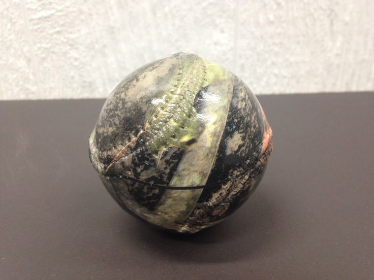 Hydro dipped baseball in camo